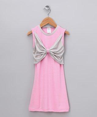 Pink Butterfly Bow Dress - Toddler & Girls
