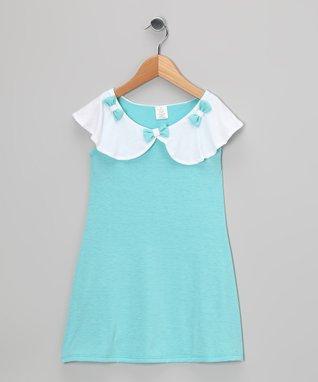 Blue Bow Dress - Toddler & Girls