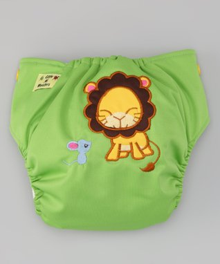 Little Monsters Green Lion & Mouse Pocket Diaper