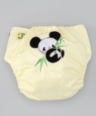 Little Monsters Light Yellow Panda Pocket Diaper