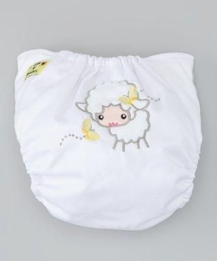 Little Monsters White Lamb Pocket Diaper