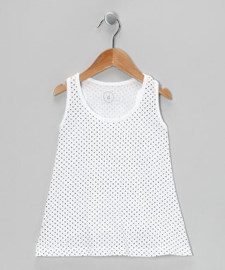 White Polka Dot Tunic - Toddler & Girls