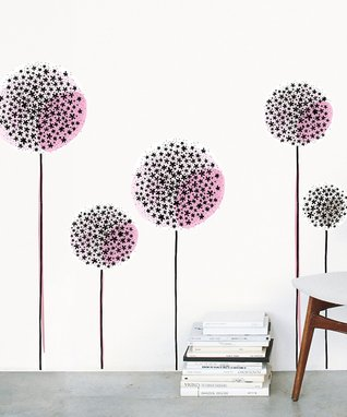 Pink Geometric Throw Pillow