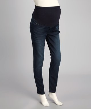 Oh! Mamma Medium Super-Soft Denim Maternity Skinny Jeans - Women & Plus