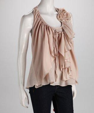 Ivory Tie-Waist Dress