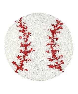 Baseball Shaggy Raggy Rug