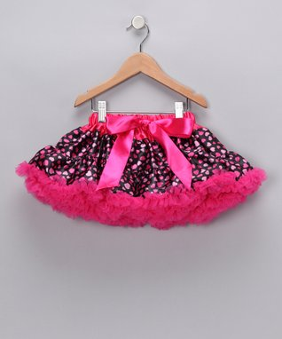Hot Pink Heart Bow Pettiskirt - Infant, Toddler & Girls