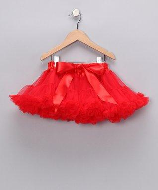 Red Bow Pettiskirt - Infant, Toddler & Girls