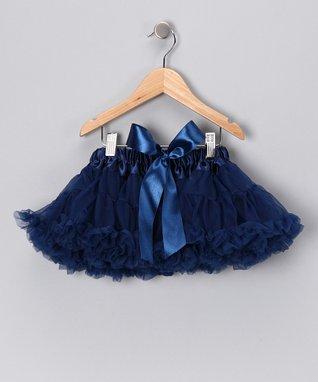 Blue & Navy Bow Pettiskirt - Infant, Toddler & Girls