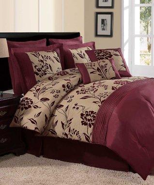 Blue Marisol Printed Cotton Comforter Set