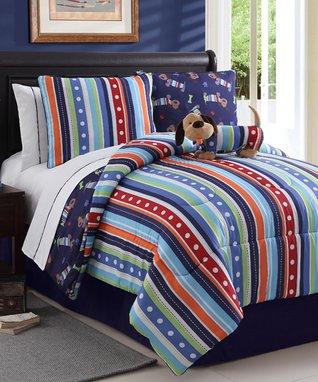 Leo Dog Reversible Comforter Set