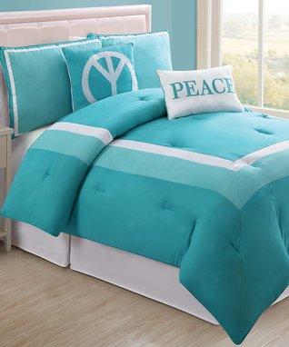 Turquoise Hotel Full Comforter Set