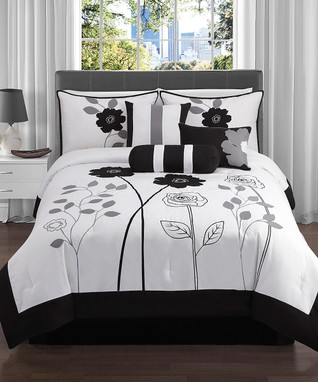 Chocolate Charlotte Comforter Set