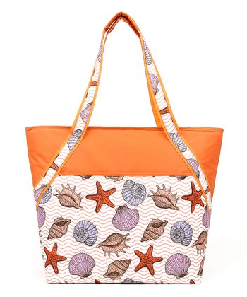 Sandy Shells Insulated Super Tote