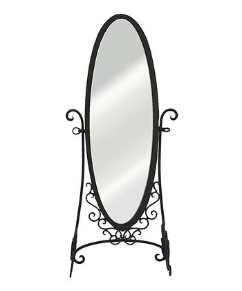 Oval Scroll Standing Full-Length Mirror