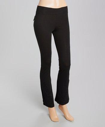 Black Boot Cut Yoga Pants - Women