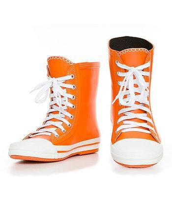 Orange Hi-Top Rain Boot