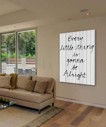 'Every Little Thing' Wood Wall Art