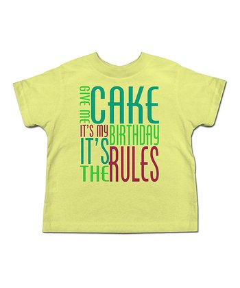 Banana 'Give Me Cake!' Tee - Toddler & Kids