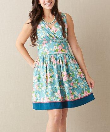 Light Blue From the Garden Dress - Women
