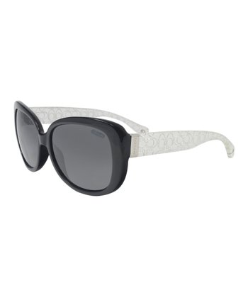 Black & Crystal Signature Sunglasses