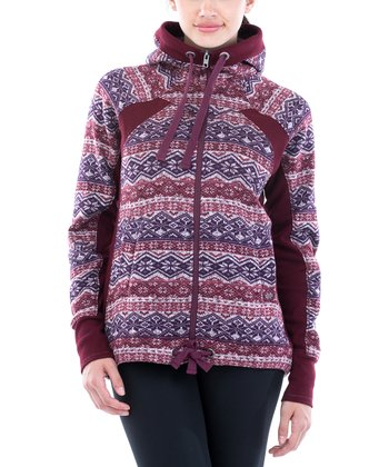 Avalanche Burgundy Nordic Willow Hoodie