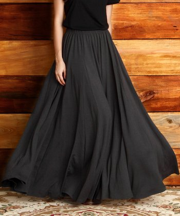 Charcoal Maxi Skirt - Women