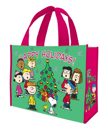 Peanuts 'Happy Holidays' Shopping Tote - Set of Two