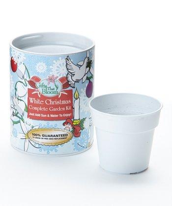White Christmas Garden Can