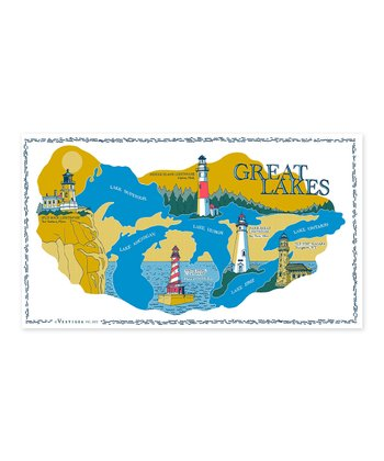 'Great Lakes' Kitchen Towel
