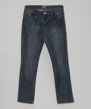 Faded Blue Distressed Jeans - Boys
