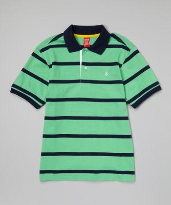 Mint Stripe Polo - Toddler & Boys