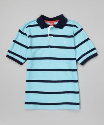 Icy Blue Stripe Polo - Toddler & Boys