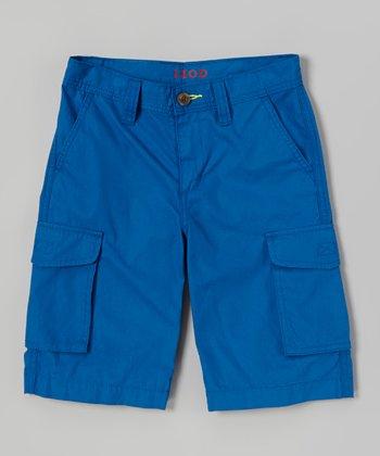 Light Blue Cargo Shorts - Toddler & Boys