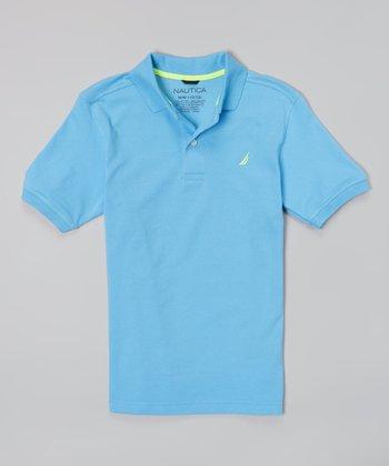 Blue Buff Solid Piqué Polo - Infant