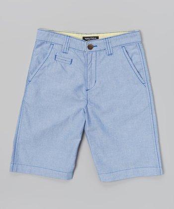Blue Jean Oxford Shorts - Boys