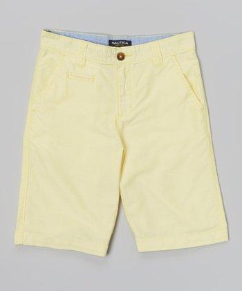 Yellow Oxford Shorts - Boys