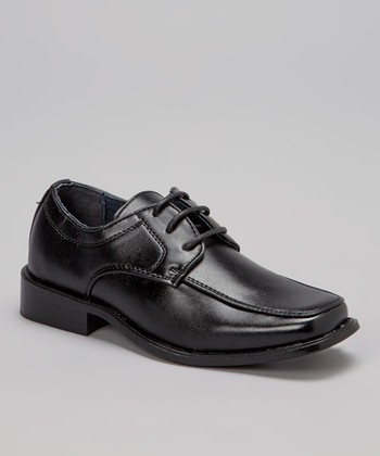 Black Lace-Up Oxford