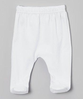 White Footie Pants - Infant