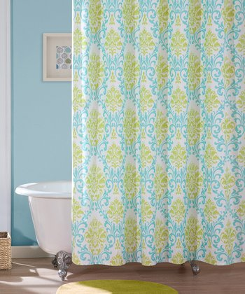 Teal Carla Shower Curtain