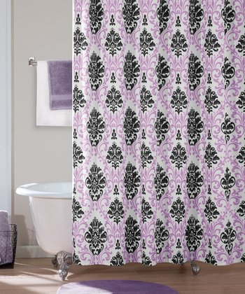 Purple Carla Shower Curtain