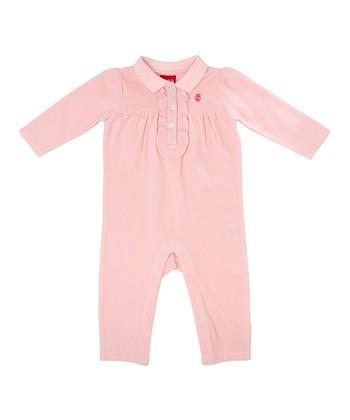 Powder Pink Ruffle Playsuit - Infant
