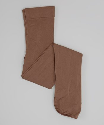 Brown Semi Opaque Boot-Cover Tights - Girls & Women