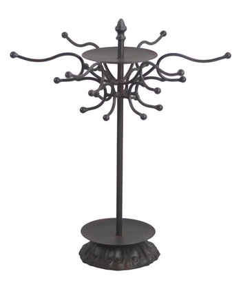 Distressed Brown Jewelry Display Stand