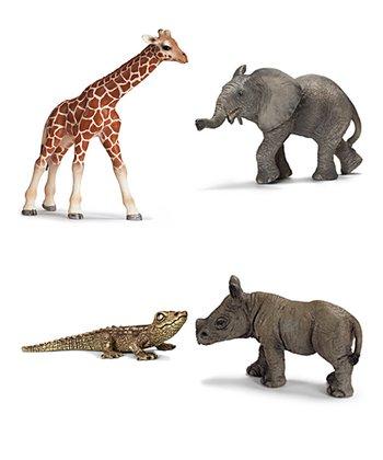 African Animal Baby Figurine Set