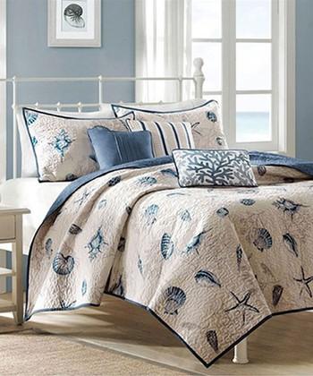 Blue Beach Aarika Quilt Set