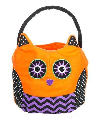 Orange Owl Treat Tote Bag