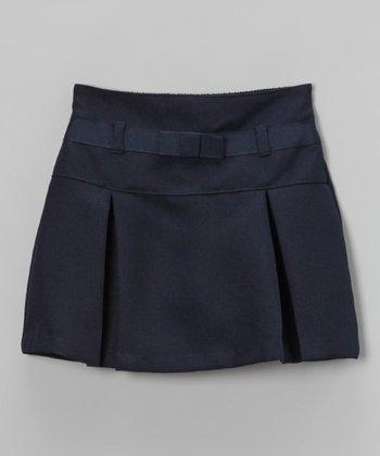 Navy Drop-Waist Scooter Skirt - Girls