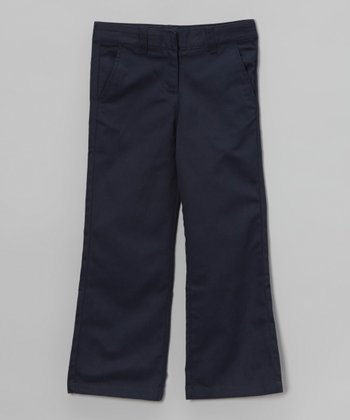 Navy Bootcut Pants - Girls
