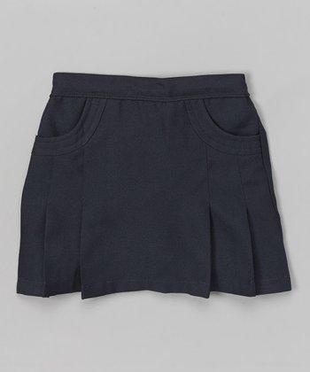 Navy Blue Pleated Skirt - Girls
